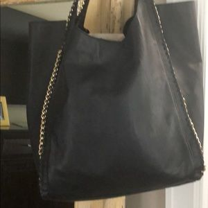 Black Bag leatherette with chain detail